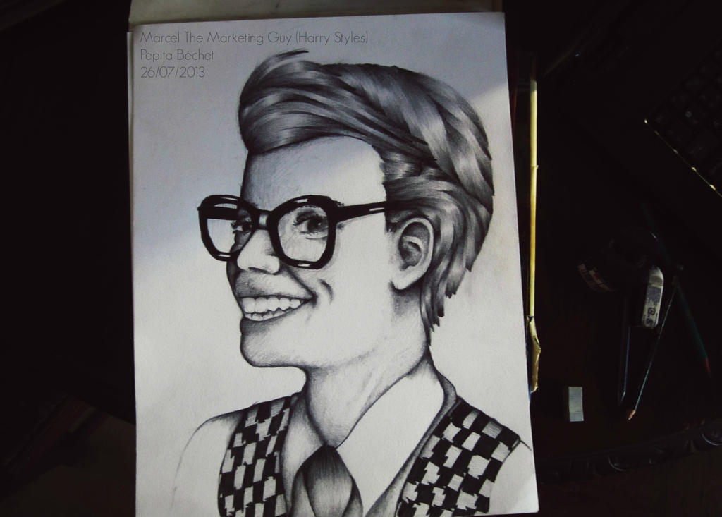 Harry Styles Marcel Marcel The Marketing Guy Harry Styles by Pepitadraws