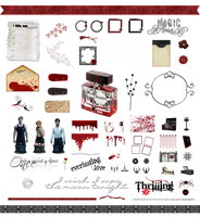 True Blood / Vampire: Word Art and Clear Cut PNG 2 by Riogirl9909stock