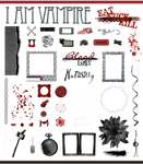 True Blood / Vampire: Word Art and Clear Cut PNG 4