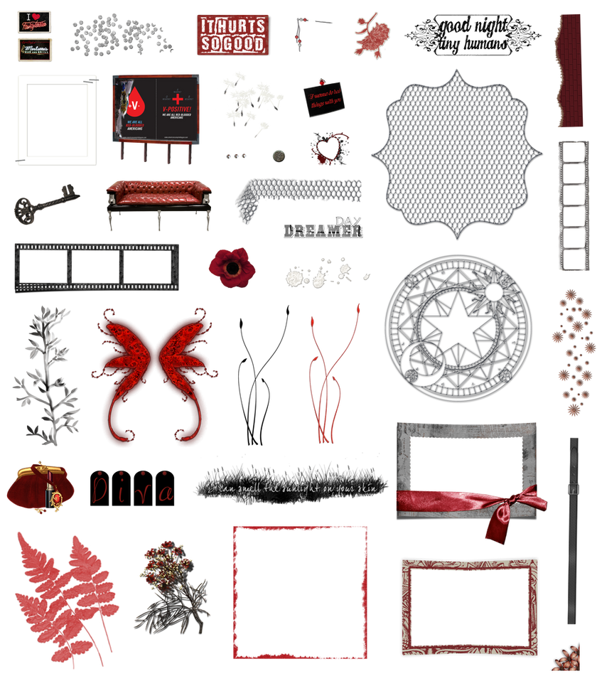 True Blood / Vampire: Word Art and Clear Cut PNG 6 by Riogirl9909stock