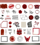 True Blood / Vampire: Word Art and Clear Cut PNG 8