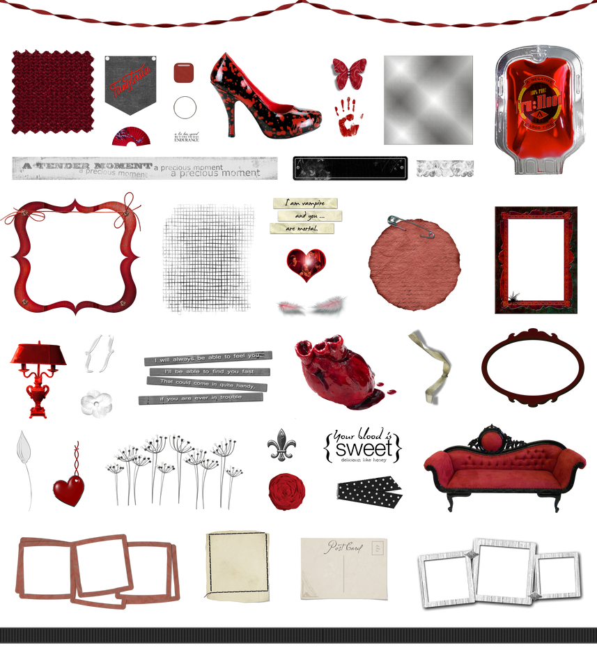 True Blood / Vampire: Word Art and Clear Cut PNG 9 by Riogirl9909stock