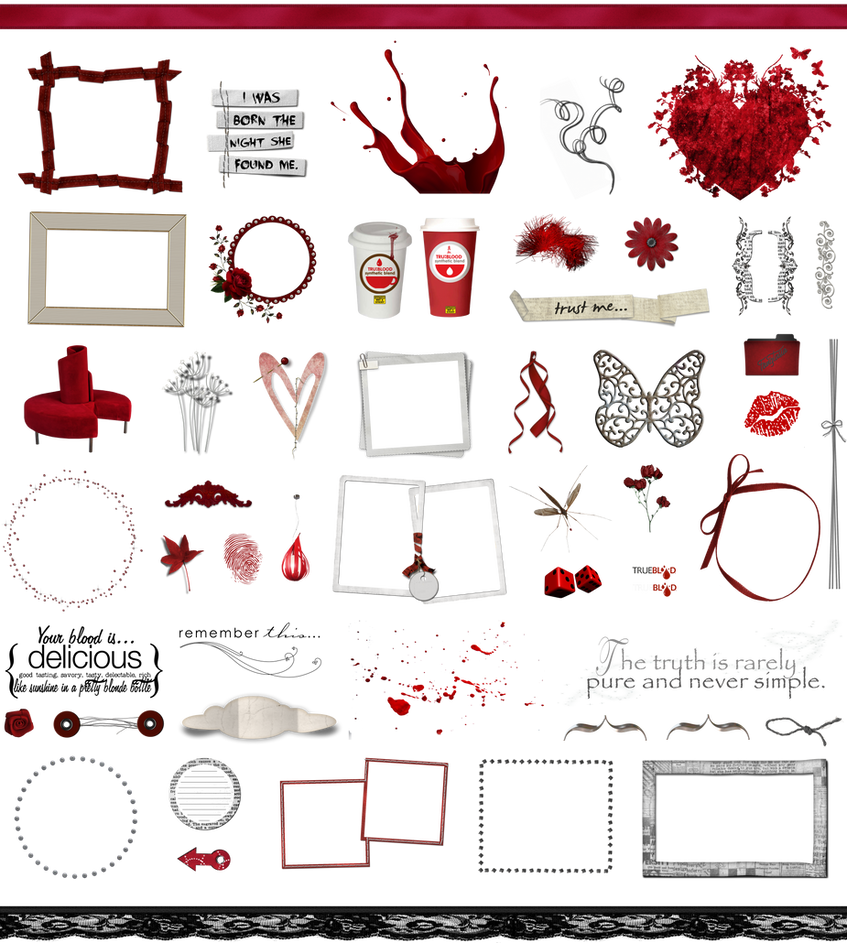 True Blood / Vampire: Word Art + Clear Cut PNG 10 by Riogirl9909stock