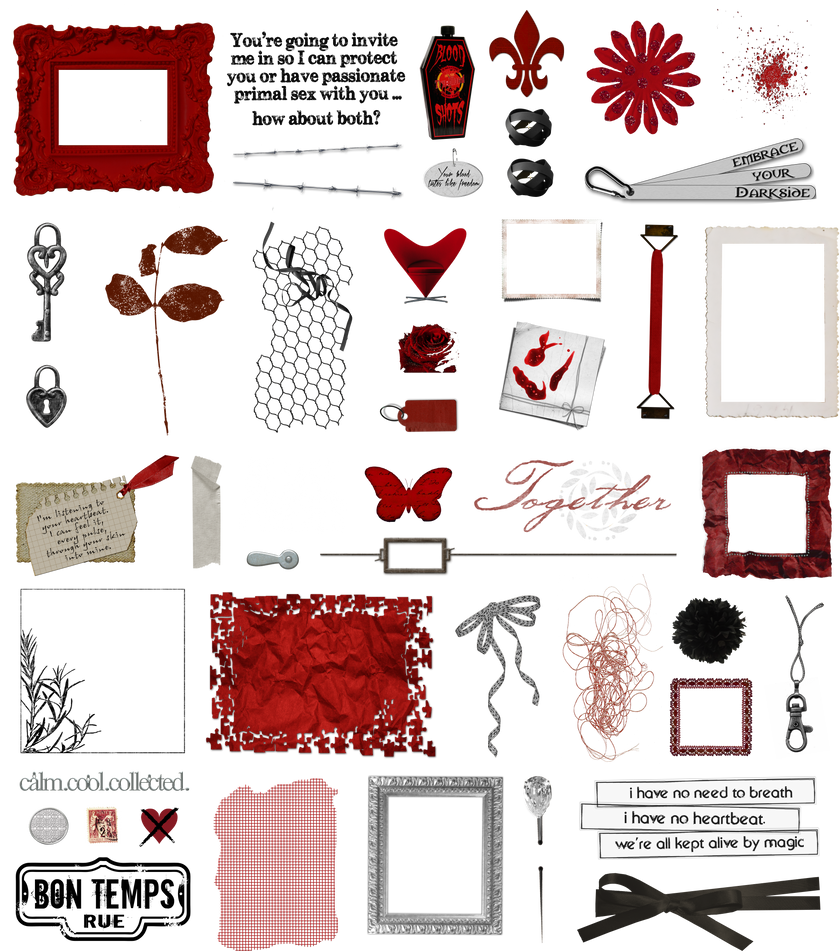 True Blood / Vampire: Word Art + Clear Cut PNG 14 by Riogirl9909stock