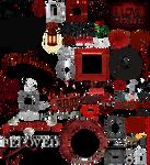 True Blood / Vampire: Word Art + Clear Cut PNG 16