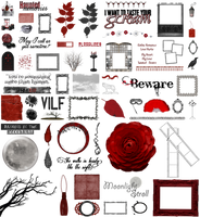 True Blood / Vampire: Word Art + Clear Cut PNG 20 by Riogirl9909stock
