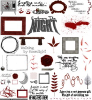 True Blood / Vampire: Word Art + Clear Cut PNG 21 by Riogirl9909stock