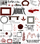True Blood / Vampire: Word Art + Clear Cut PNG 21