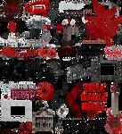 True Blood / Vampire: Word Art + Clear Cut PNG 22