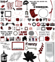 True Blood / Vampire: Word Art + Clear Cut PNG 28 by Riogirl9909stock