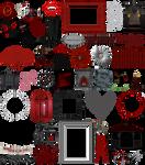 True Blood / Vampire: Word Art + Clear Cut PNG 37