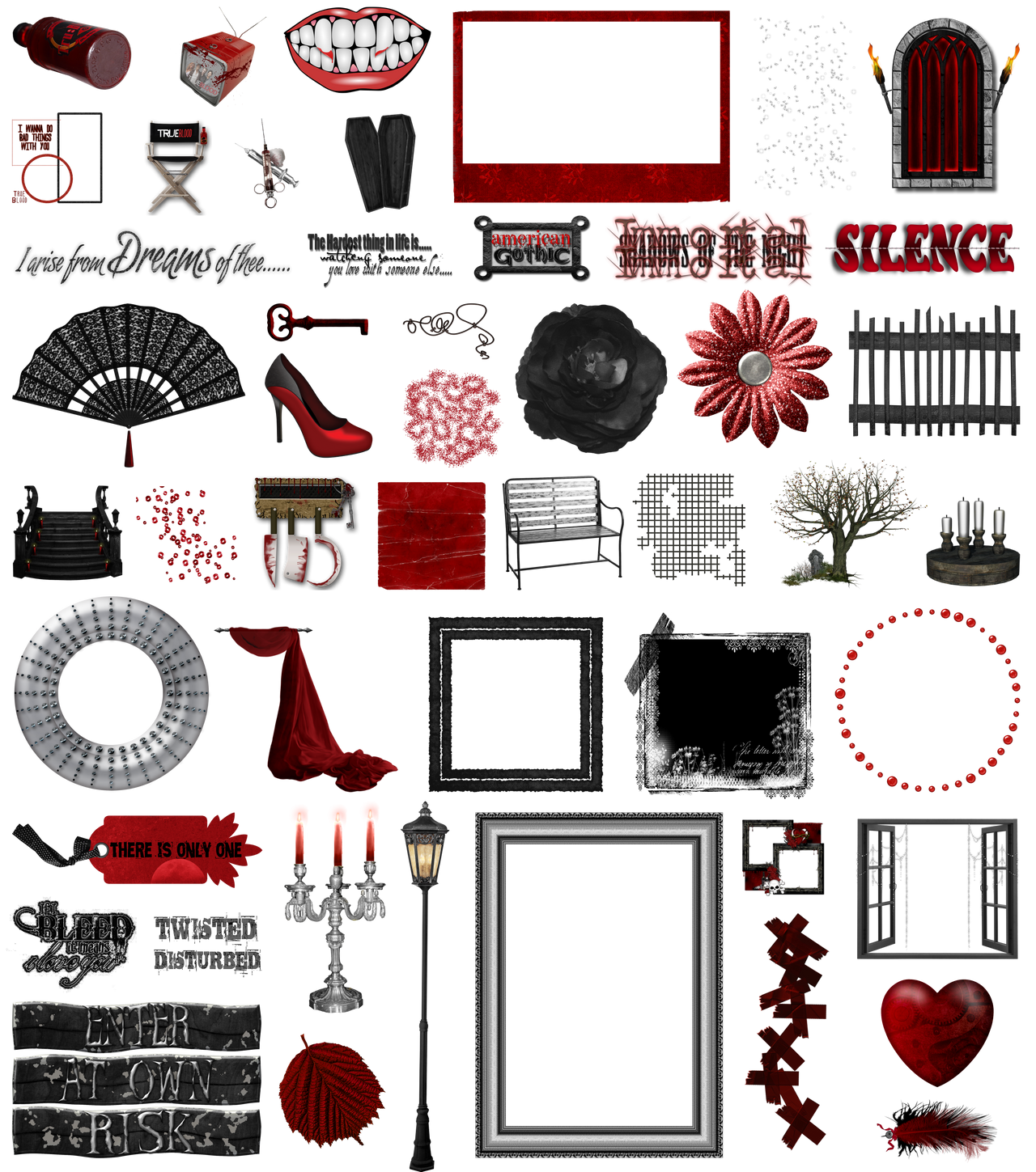 True Blood / Vampire: Word Art + Clear Cut PNG 38 by Riogirl9909stock