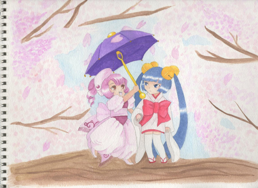 Watercolor Chobits Sumomo And Kotoko By Corgi Ai88