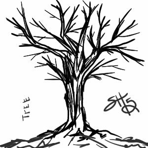 challenge: draw a tree by corgi-ai88