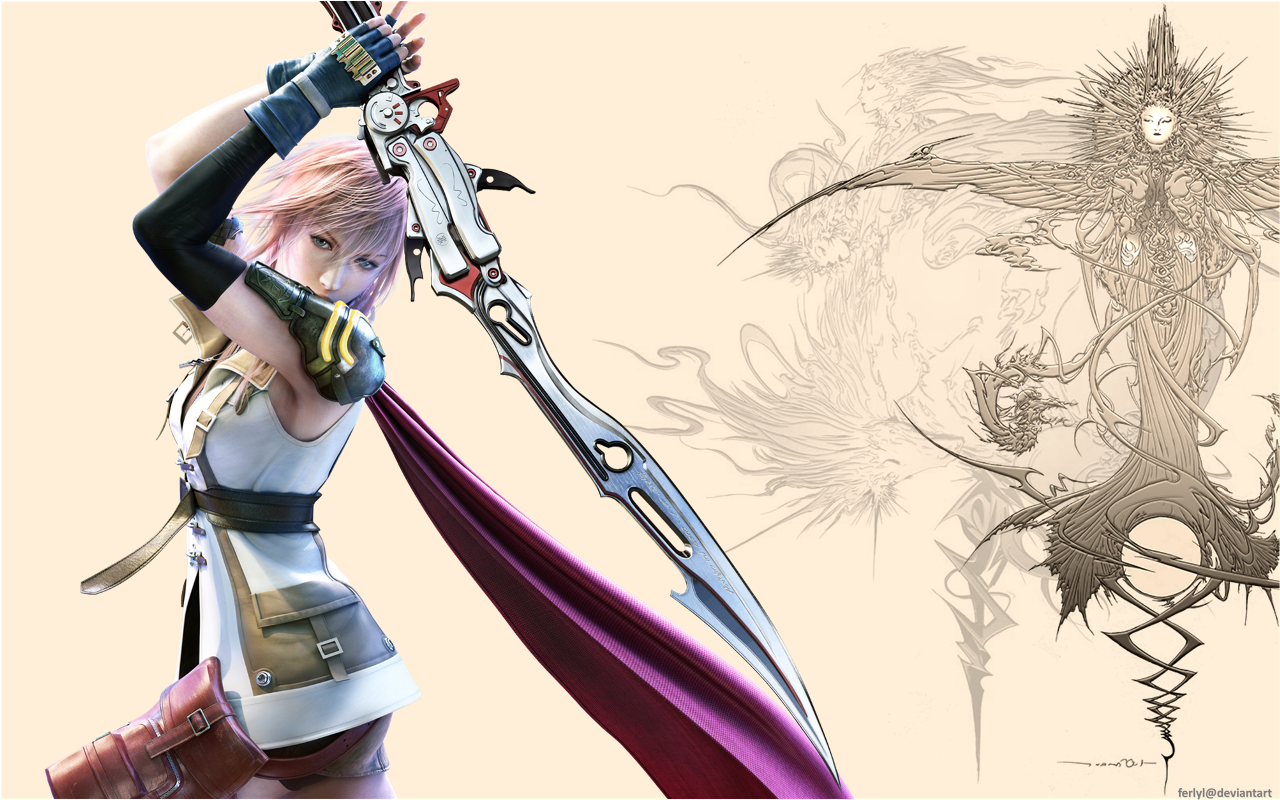 ffxiii lightning fighting fateferlyl on deviantart