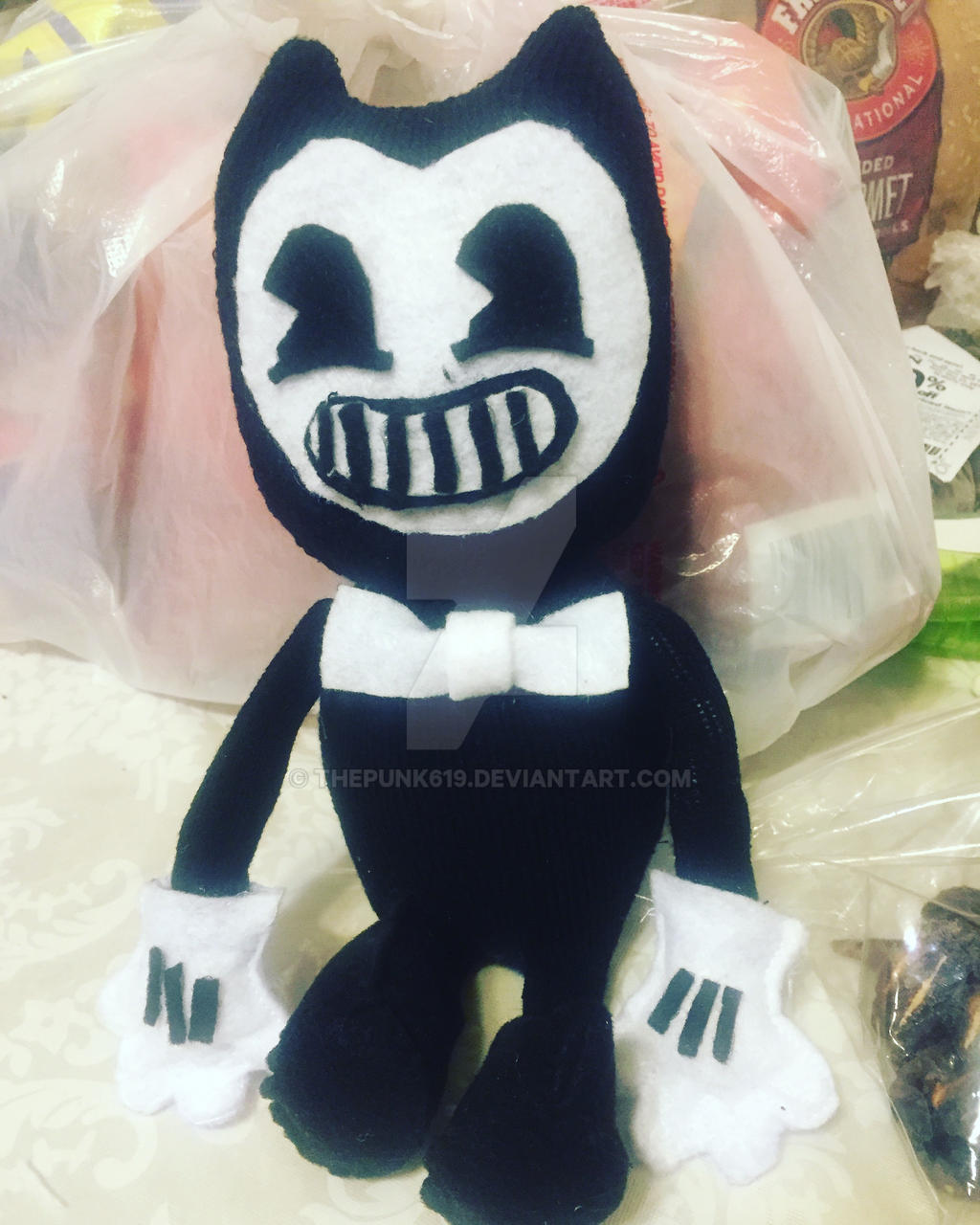 Bendy plush toy by thepunk619 on DeviantArt