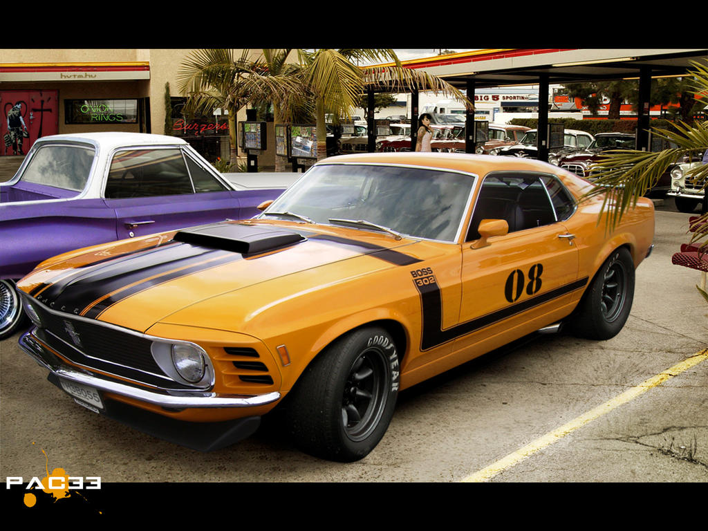 ford mustang boss 302 1970 by pacee on deviantart. Black Bedroom Furniture Sets. Home Design Ideas