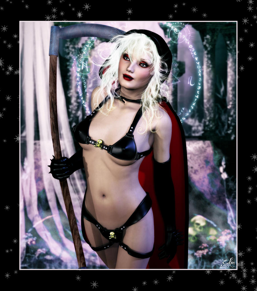 Lady Death for Grimagix by Bloodredsangre