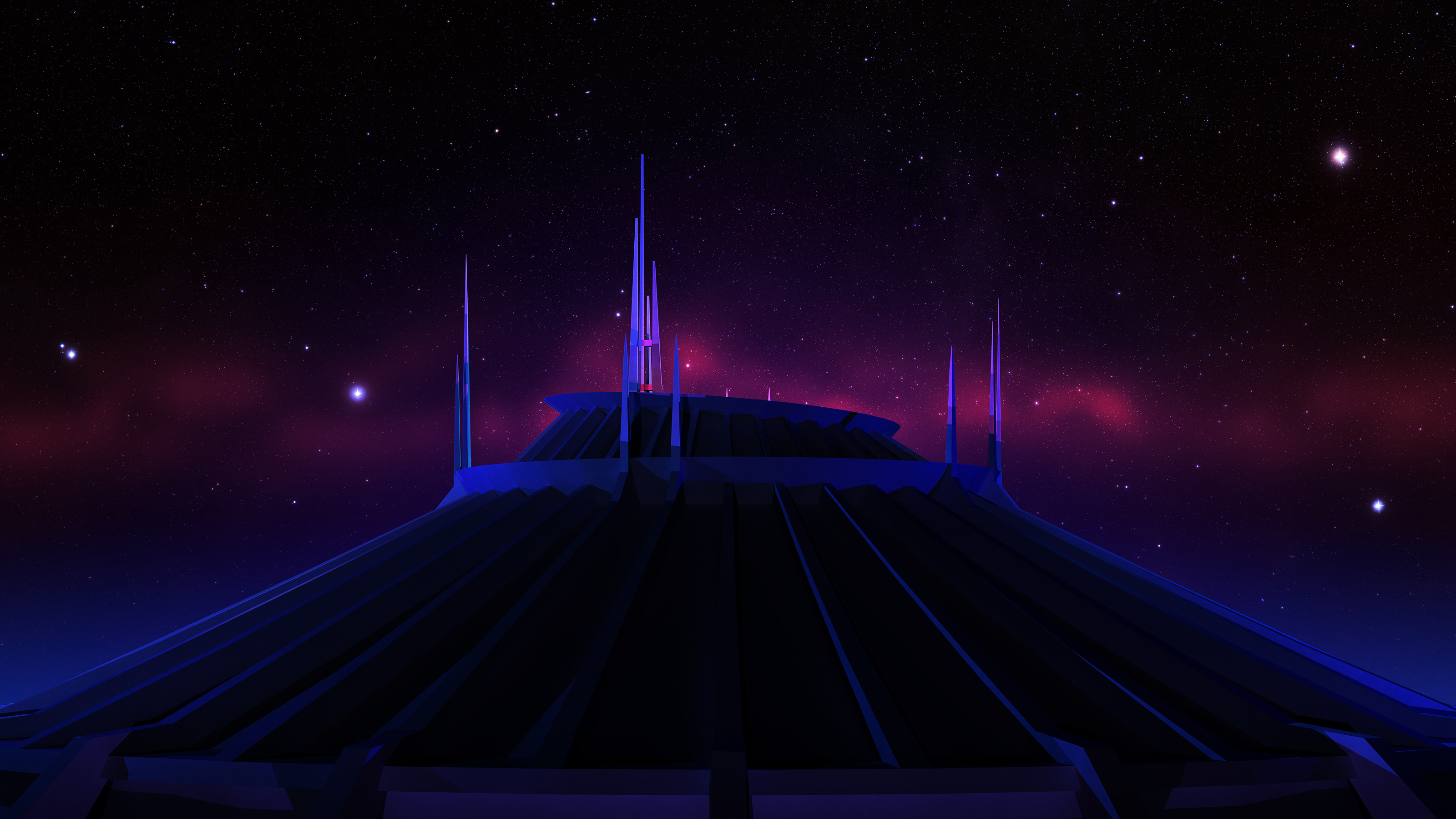 Space Mountain - Night by louiemantia