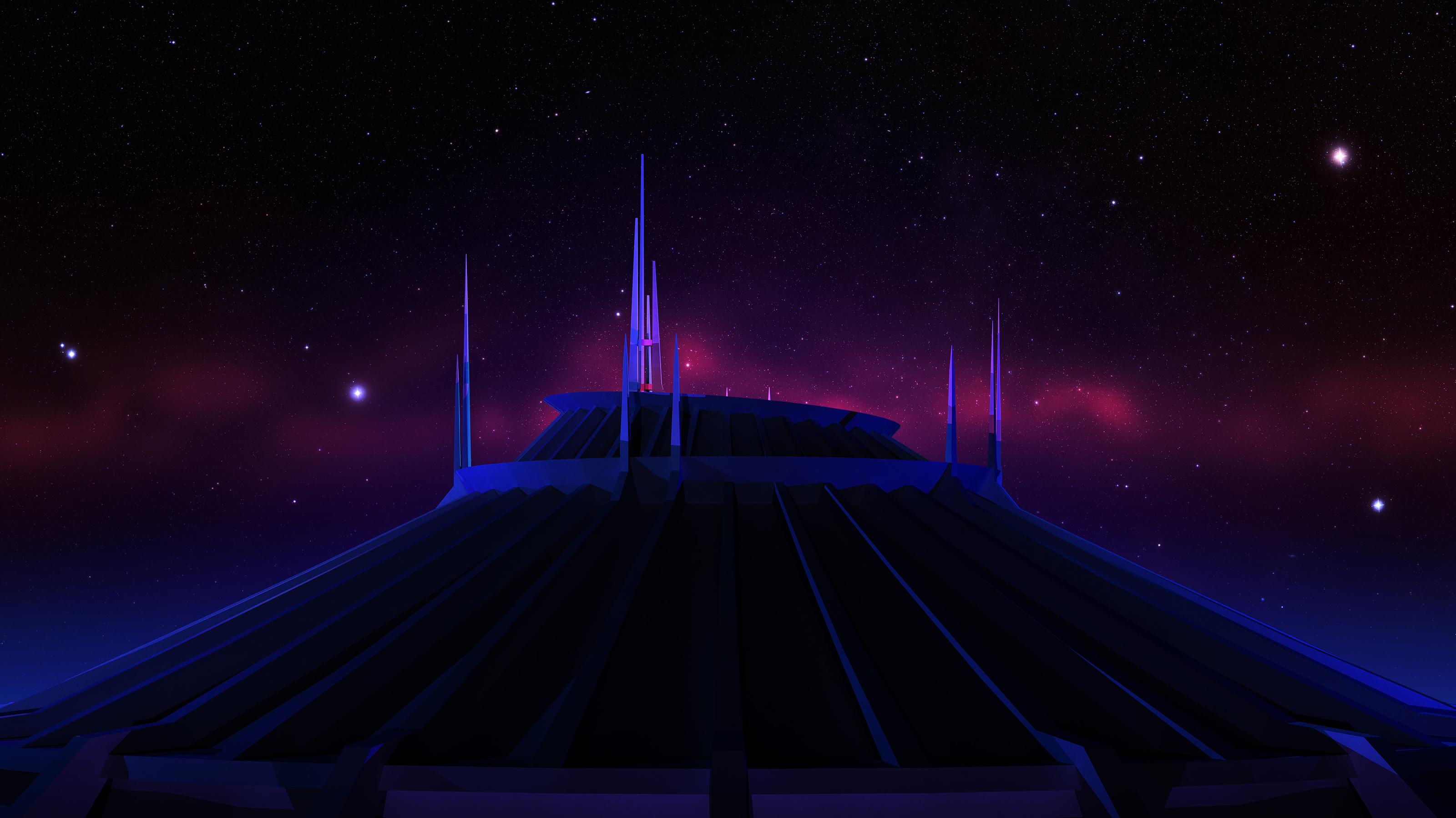 Space Mountain - Night by louiemantia
