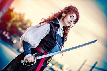 Elise de la Serre with sword by BougainvilleaGlabra