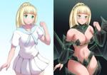 Necrozma Demon Lillie (before-after)