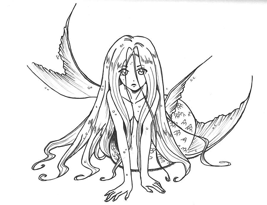 Mermaid By Viking Princess On Deviantart Mermaid Princess Drawings
