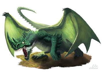 Green Dragon by JulioRochaArt