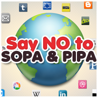 Say No To SOPA Icon By Lucariorose24 by LucarioRose24
