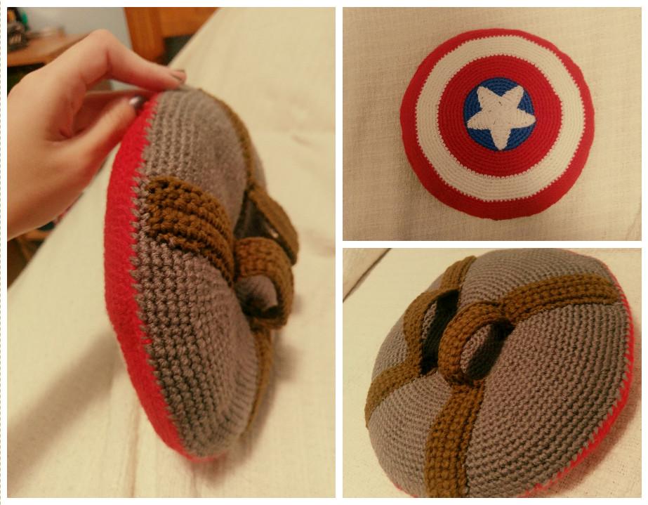 Mini Captain America Crochet Shield! by jenny3793