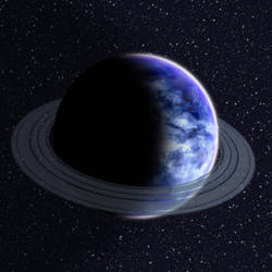 Blue Ringed Planet