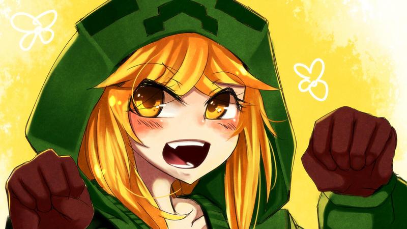 Creeper girl by shiuta on deviantart - Creeper anime girl ...