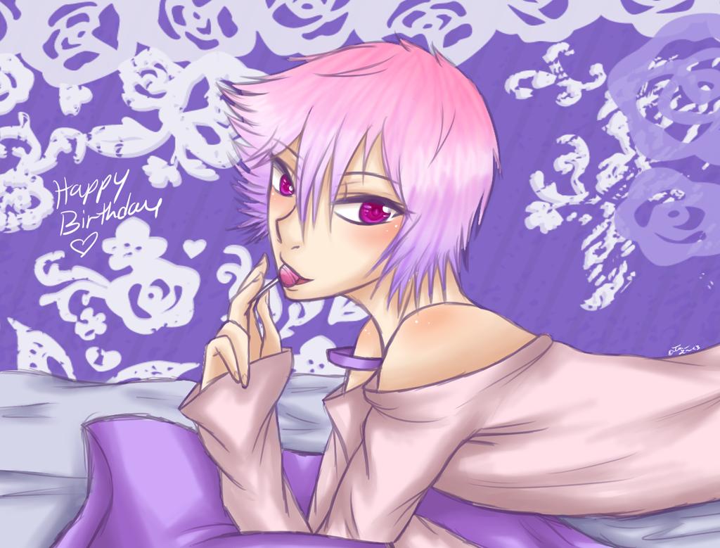Gotta love sweets .:Birthday gift:. by Glass-Moon-Neko
