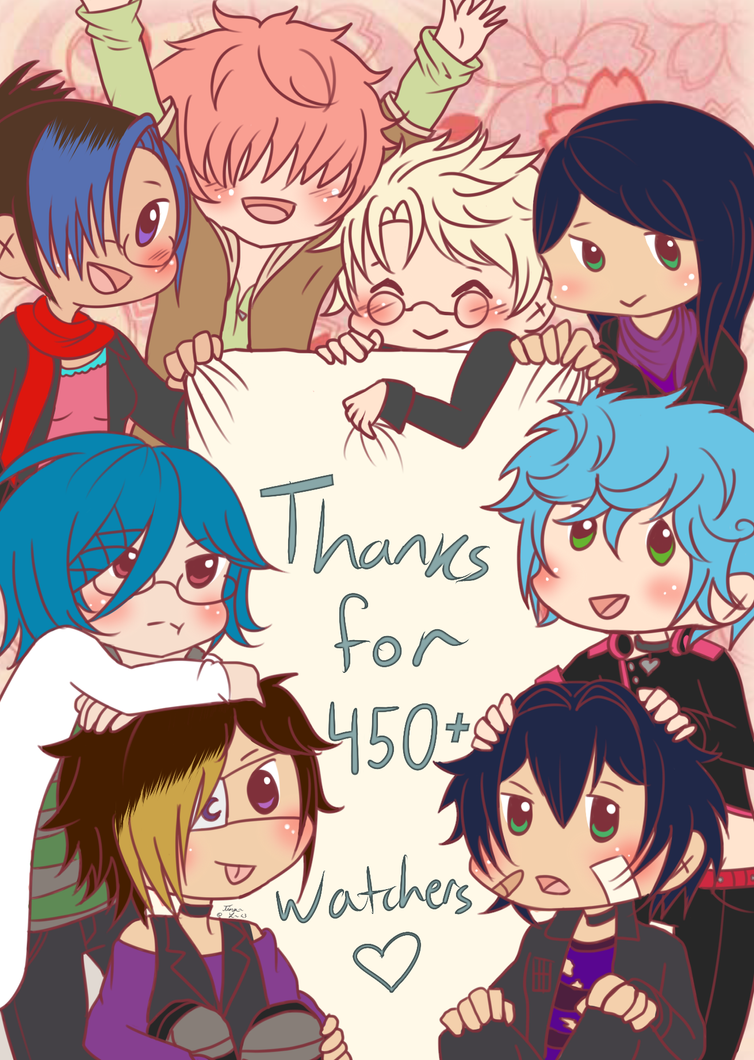 .:Thanks for 450+!:. by Glass-Moon-Neko