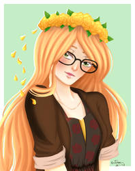 Flower crowns and glasses .:RQ:. by KuudereSenpai