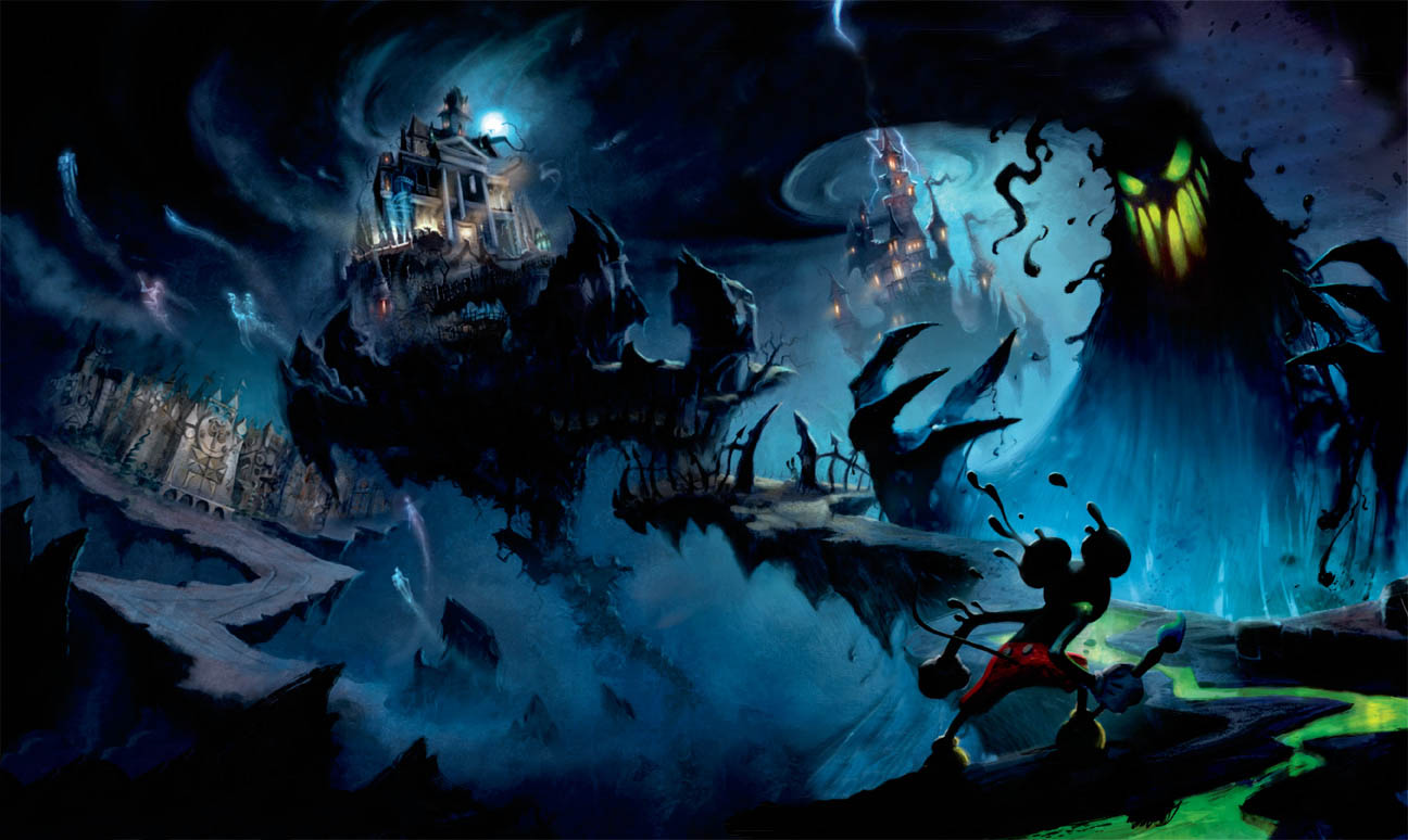 Epic Mickey Wallpaper Clean-up by honestgeorge
