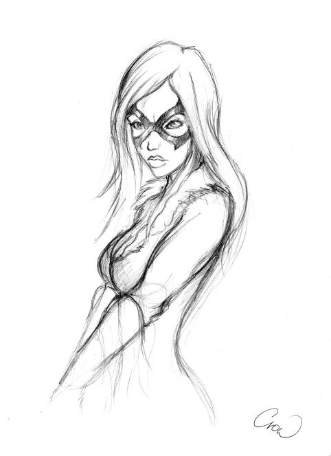 Black Cat sketch by mhroczny