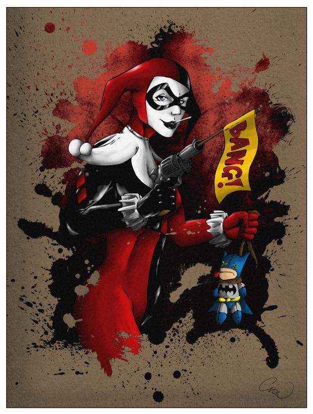 Harley Quinn splash by mhroczny