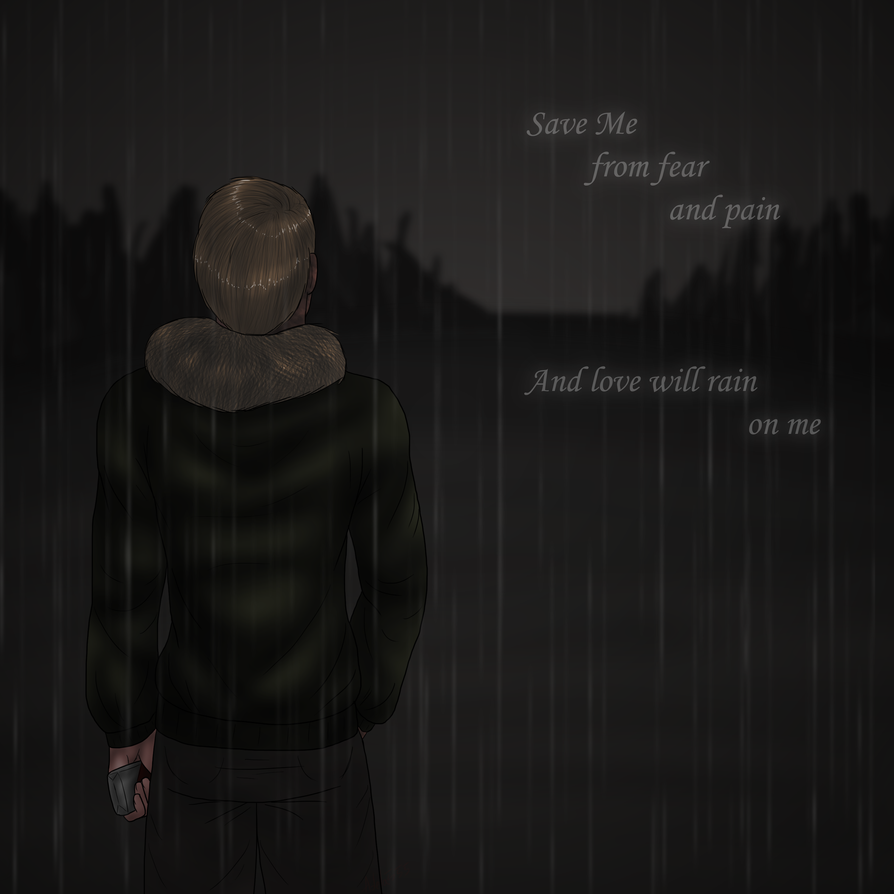 Alone in the rain by Adela555