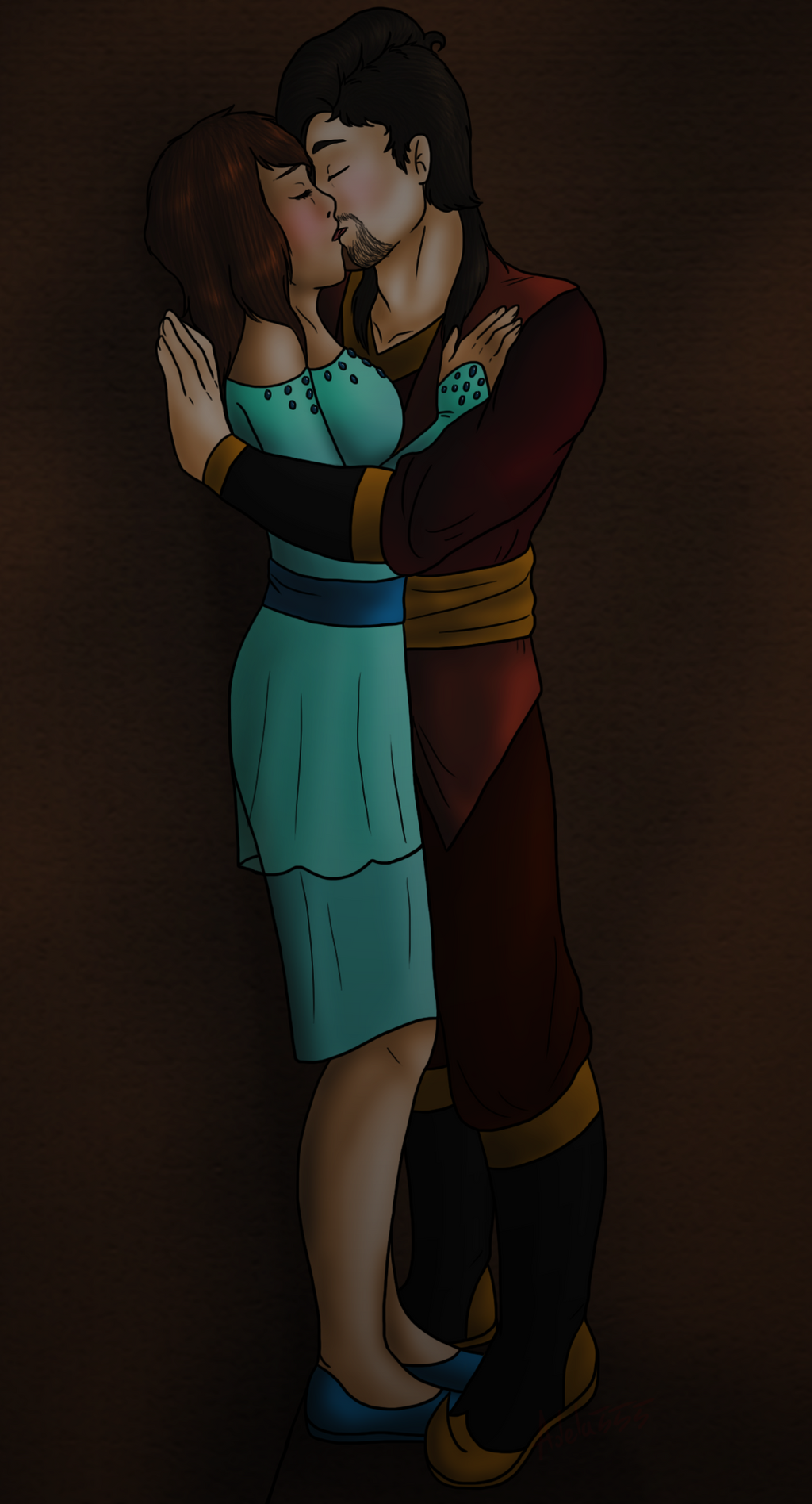 Kiss In The Cave by Adela555