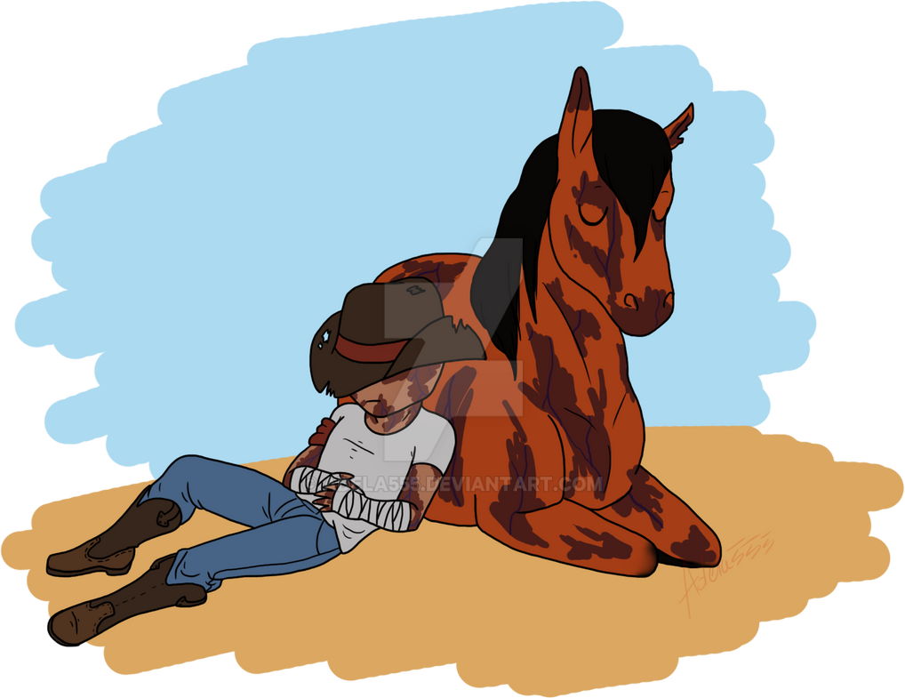 Horse and Cowboy by Adela555