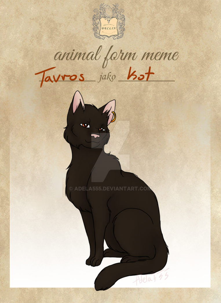AD - Animal form meme - Tavros by Adela555