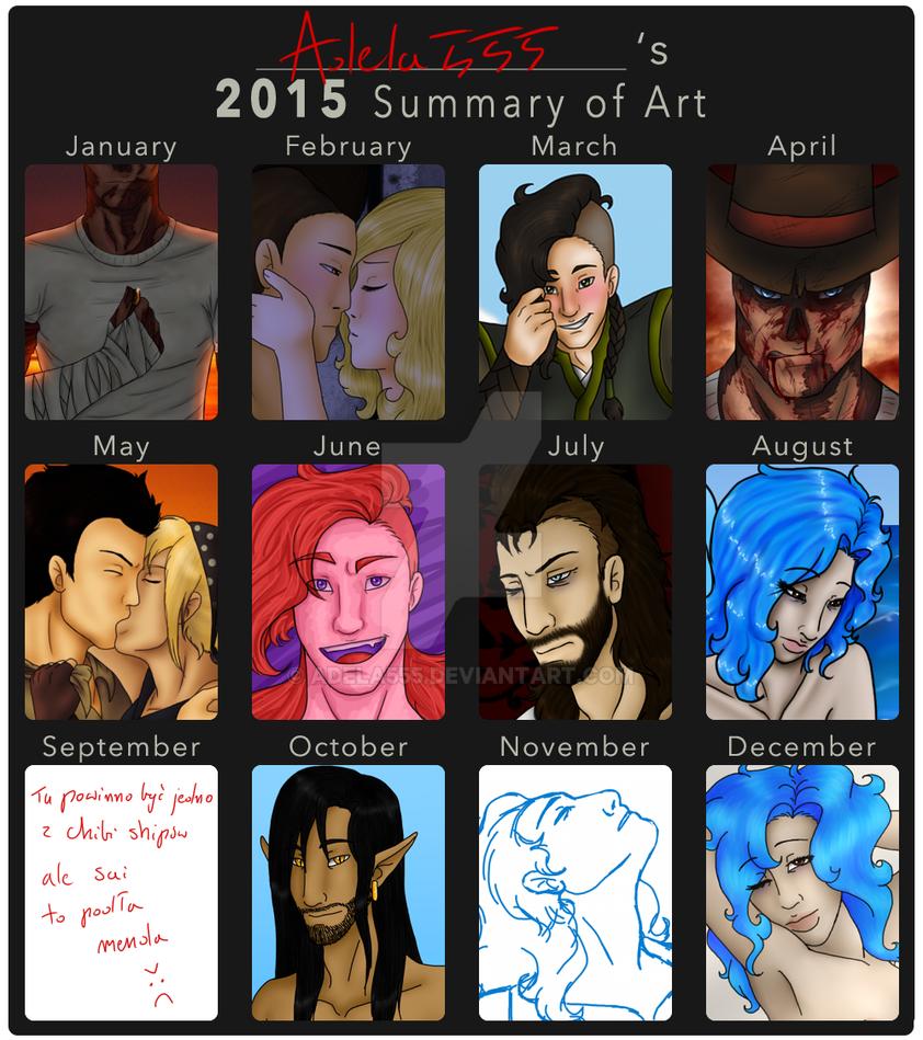 Summary of Art - 2015 by Adela555