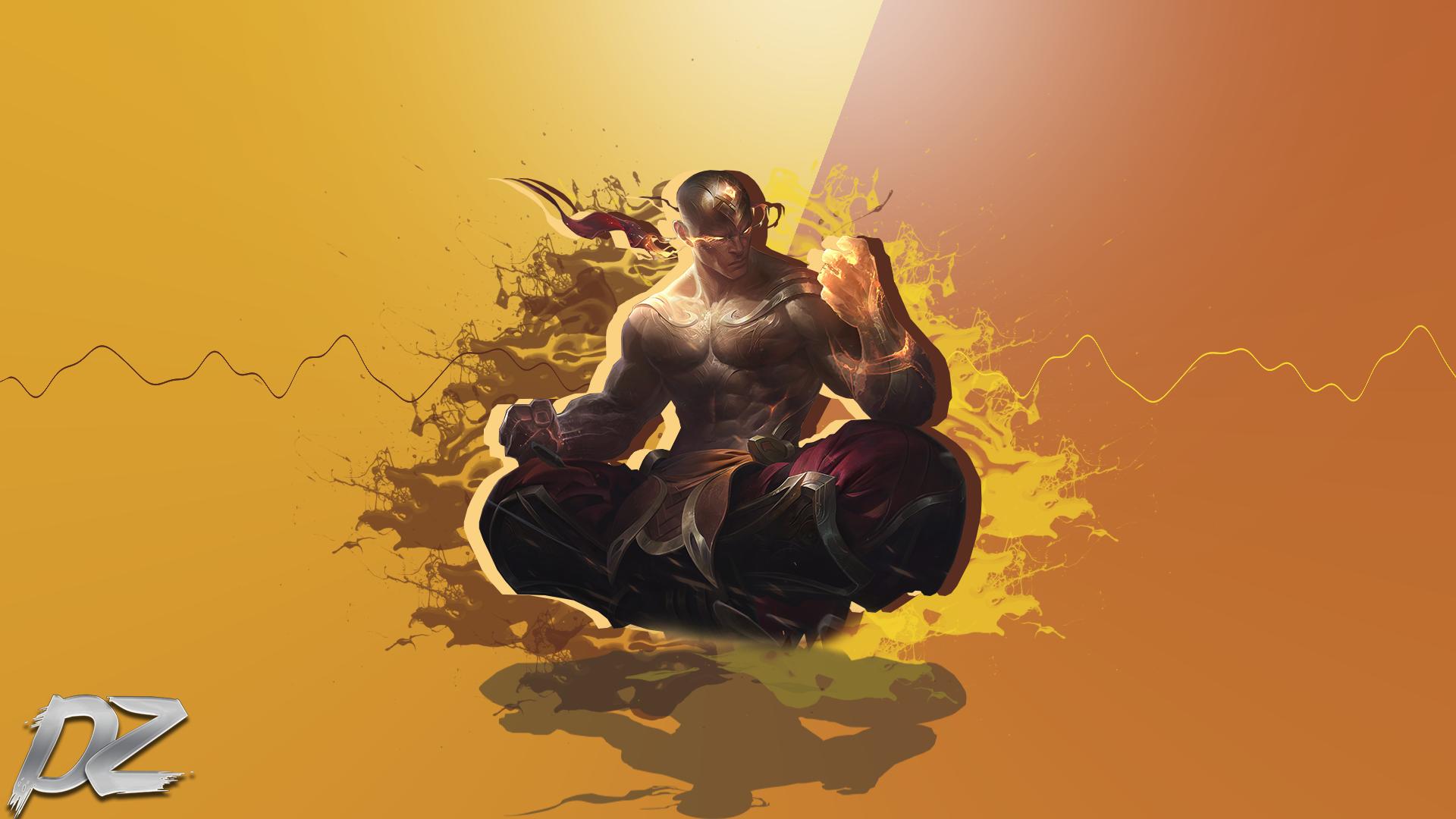 God Fist Lee Sin Wallpaper By Dezzoart On Deviantart
