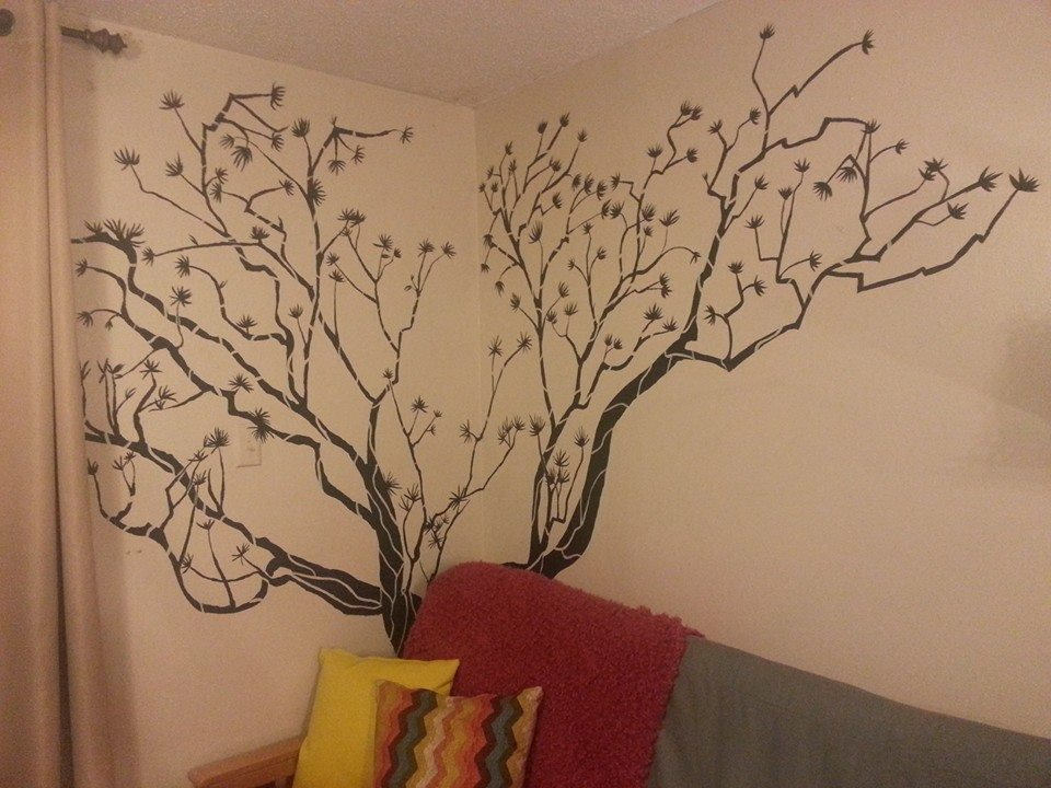 Tree Painting Wall Painting Black Tree by