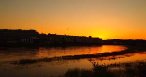 The Warta sunset