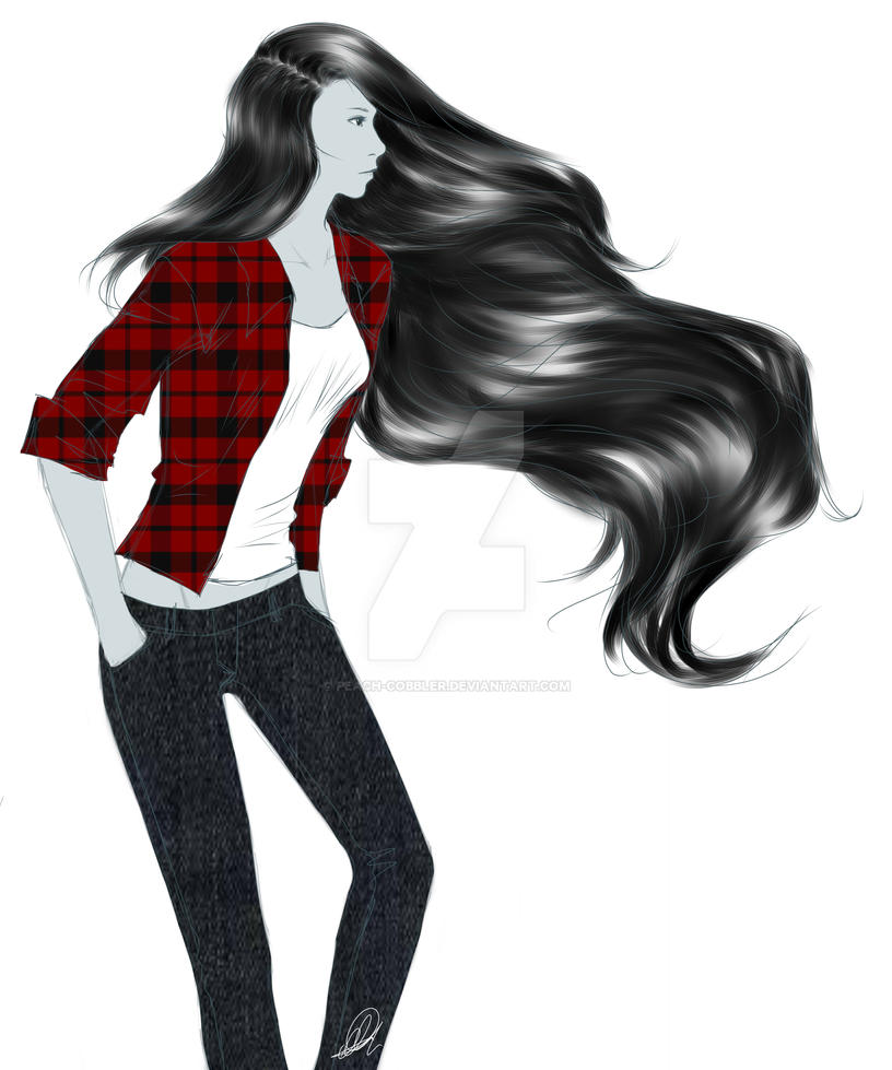 Plaid and Jeans by Peach-Cobbler