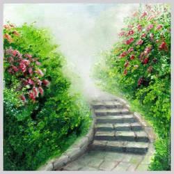 Misty garden by ginn-m