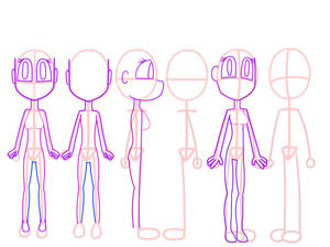 Character Model Sheet Female Base 2