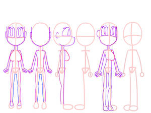 character Model Sheet Female Base 3